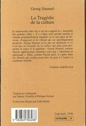 La Tragedie De La Culture N 86 - 4ème de couverture - Format classique