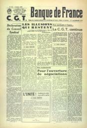 Banque De France Cgt N°35 du 01/10/1957 - Couverture - Format classique
