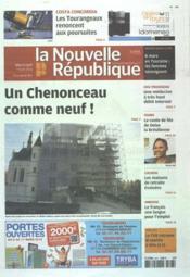 Nouvelle Republique (La) N°20488 du 07/03/2012 - Couverture - Format classique