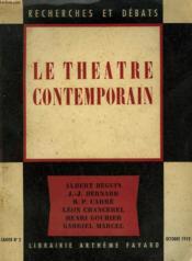 Le Theatre Contemporain. Recherches Et Debats N°2. - Couverture - Format classique