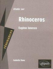 Ionesco ; rhinocéros - Intérieur - Format classique