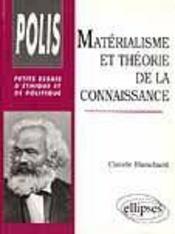 Materialisme Et Theorie De La Connaissance Petits Essais D'Ethique Et De Politique - Intérieur - Format classique