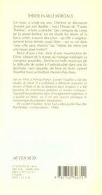 Therese En Mille Morceaux - 4ème de couverture - Format classique