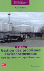 Gestion des problèmes environnementaux dans les industries agroalimentaires - Couverture - Format classique