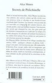 Secrets De Polichinelle - 4ème de couverture - Format classique
