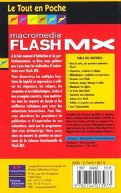 Flash Mx - 4ème de couverture - Format classique