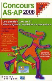 Concours As Ap 2008 - Intérieur - Format classique