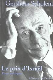 Le prix d'israël ; écrits politiques - Intérieur - Format classique