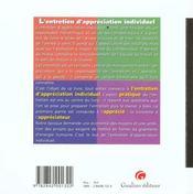 Entretien Appreciation Indiv. - 4ème de couverture - Format classique