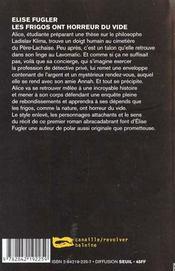 Les Frigos Ont Horreur Du Vide - 4ème de couverture - Format classique