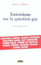 Entretiens sur la question gay - Intérieur - Format classique