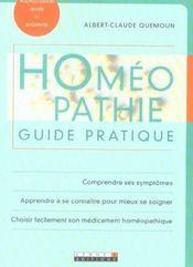 Homeopathie guide pratique - Intérieur - Format classique