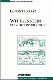 Wittgenstein et la déconstruction - Couverture - Format classique