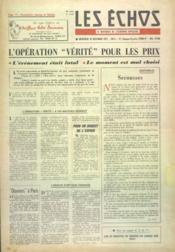 Echos (Les) N°4030 du 18/12/1957 - Couverture - Format classique