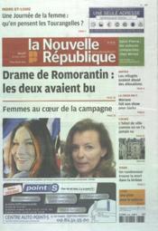 Nouvelle Republique (La) N°20489 du 08/03/2012 - Couverture - Format classique