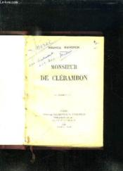 Monsieur De Clerambon. - Couverture - Format classique
