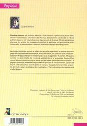 Physique Statistique Et Illustrations En Physique Du Solide - 4ème de couverture - Format classique