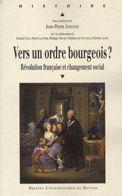 Vers un ordre bourgeois ? Révolution française et changement social - Intérieur - Format classique