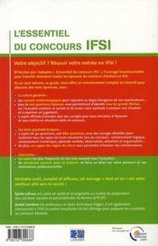 L Essentiel Du Concours Ifsi - 4ème de couverture - Format classique