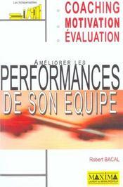 Ameliorer Les Performances De Son Equipe 2e Edition - Intérieur - Format classique