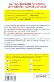Ameliorer Les Performances De Son Equipe 2e Edition - 4ème de couverture - Format classique