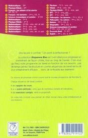 Physique chimie 1e s - 4ème de couverture - Format classique