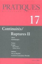 Pratiques 17. Continuites/Ruptures 2 - Intérieur - Format classique