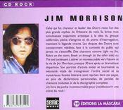 Jim morrison ; cd rock - 4ème de couverture - Format classique