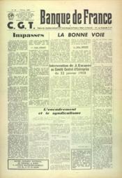 Banque De France Cgt N°36 du 01/02/1958 - Couverture - Format classique