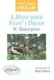 A Midsummer Night'S Dream W.Shakespeare Capes/Agregation Anglais - Intérieur - Format classique