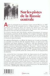 Sur Les Pistes De La Russie Centrale - 4ème de couverture - Format classique