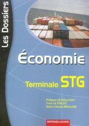 Economie ; terminale stg - Intérieur - Format classique