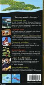 Cuba (La Havane, Vallee De Vinales, Trinidad, Santiago De Cuba - 4ème de couverture - Format classique