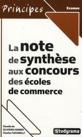 La note de synthèse aux concours des écoles de commerce - Intérieur - Format classique