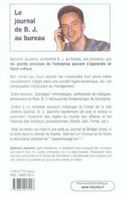 Journal De Bj Au Bureau - 4ème de couverture - Format classique