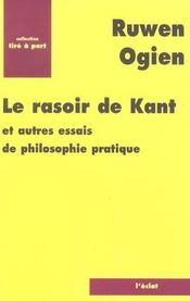 Le Rasoir De Kant - Intérieur - Format classique