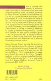 Le Rasoir De Kant - 4ème de couverture - Format classique