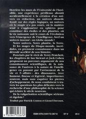 La science du disque-monde t.1 - 4ème de couverture - Format classique