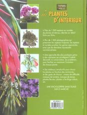 Plantes D Interieur - 4ème de couverture - Format classique