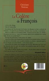 Colere De Francois (La) - 4ème de couverture - Format classique