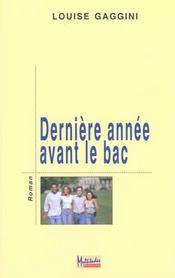 Derniere Annee Avant Le Bac - Intérieur - Format classique