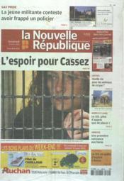 Nouvelle Republique (La) N°20490 du 09/03/2012 - Couverture - Format classique