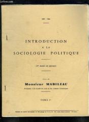 2 Tomes. Introduction A La Sociologie Politique. - Couverture - Format classique