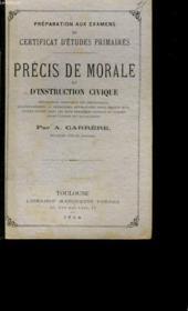 Precis De Morale Et D'Instruction Civique. - Couverture - Format classique