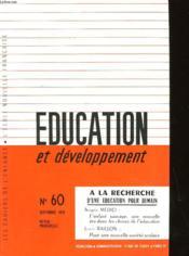 Education Et Developpement N°60 - Couverture - Format classique