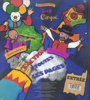 Tous Au Cirque - 4ème de couverture - Format classique