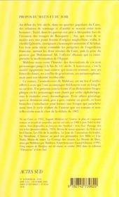 Propos Du Matin Et Du Soir - 4ème de couverture - Format classique