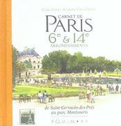 Carnet De Paris 6e Et 14e Arrondissements - Intérieur - Format classique