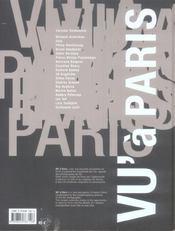 Vu à paris - 4ème de couverture - Format classique