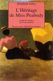 L'Heritage De Miss Peabody - Couverture - Format classique